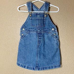 Gap toddler girl jean overall dress